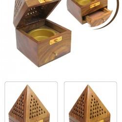 Piramit Çekmeceli Tütsülük Buhurdanlık