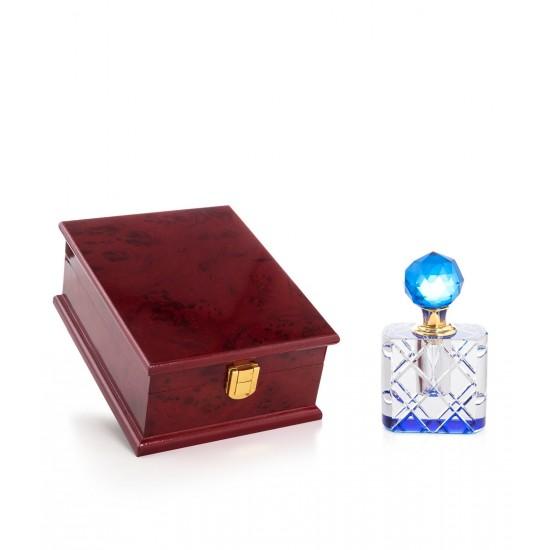 Özel Kutulu Kristal Esans Şişesi 8 cc Mavi