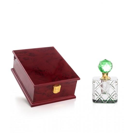 Özel Kutulu Kristal Esans Şişesi 8 cc Yeşil