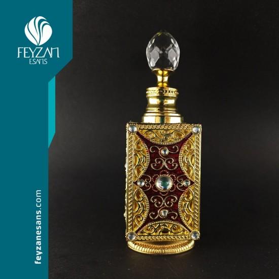 İşlemeli Osmanlı Saray Esans Şişesi 12 cc