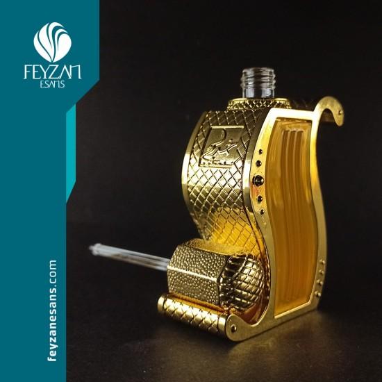 Sarı Şekilli Metal Esans Şişesi 11 cc