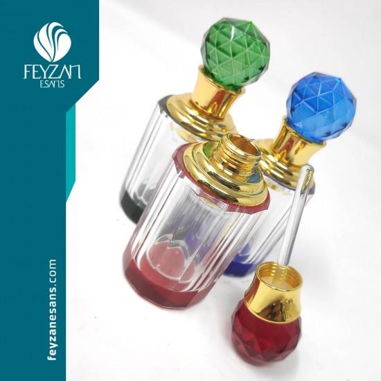 Renkli Kristal Esans Şişesi 6 cc
