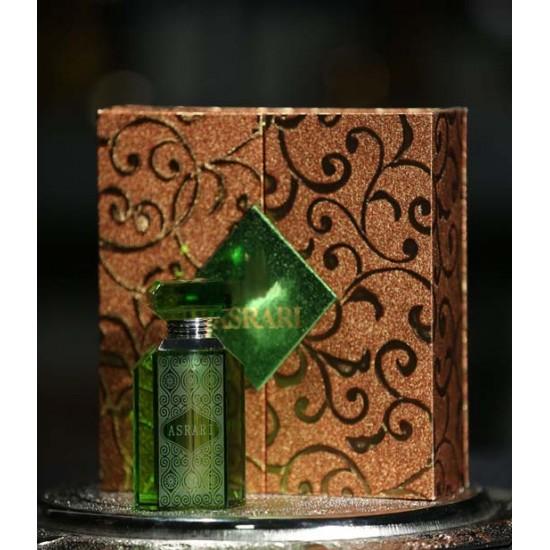 Özel Tasarım Koku Esans Şişesi Yeşil Kristal